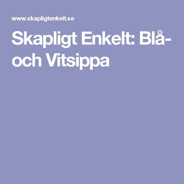 Skapligt Enkelt: Blå- och Vitsippa