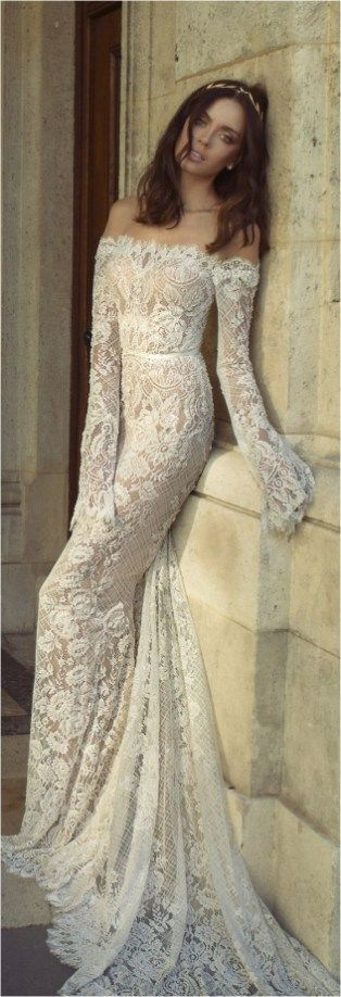 Lace Sleeves Wedding Dresses (70)