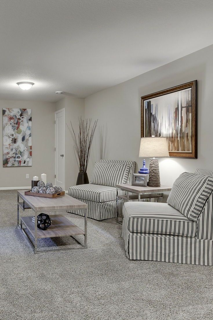 Cute Seating Area With Gray Carpet Gray Walls And White Trim Cute And Cozy Seating Graycarpet Gray Grey Carpet Living Room Grey Carpet Living Room Carpet