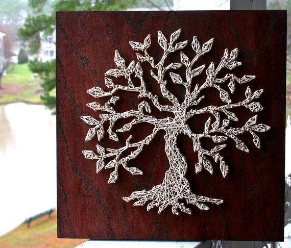 Arte de cadena del árbol de la vida por DistantRealms en Etsy