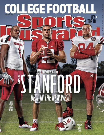 On the Cover: Andrew Luck, College Football, Stanford  Photographed by: Peter Read Miller / SI