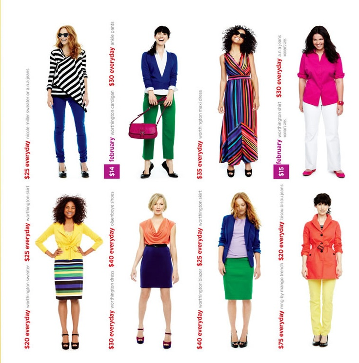 Love ALL of these looks! Via JC Penney: Color Blocking, Jcpenney Catalog, Fashion Styles, Jcpenney Re Launch Who, Good Morning, Bright Colors
