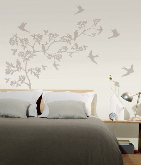 Prachtige muursticker als decoratie in de slaapkamer. Rustgevend en aanwezig tegelijk.