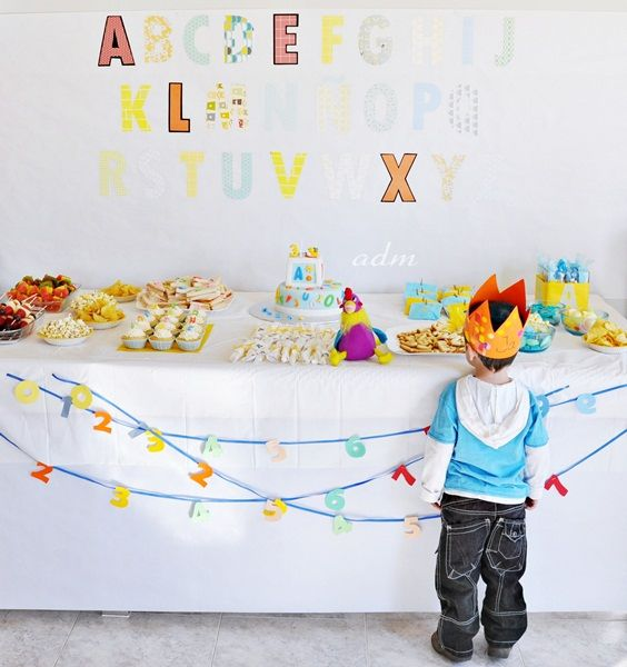 alphabet birthday party by www.fancyparties.es