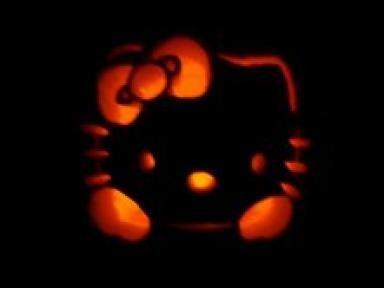 Cute Pumpkin Faces   Pumpkin Carving   Hello Kitty Hell