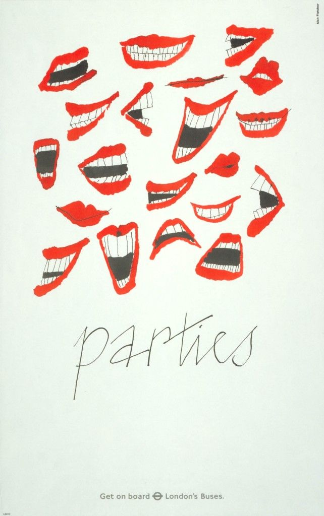 403. Parties, by Alan Fletcher, 1986