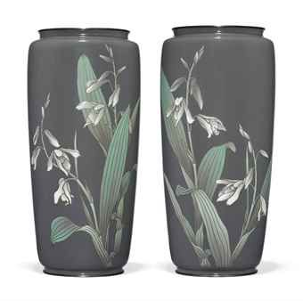 A PAIR OF ANDO MORIAGE CLOISONNÉ VASES  ANDO MARK, MEIJI PERIOD (LATE 19TH CENTURYhttp://www.christies.com