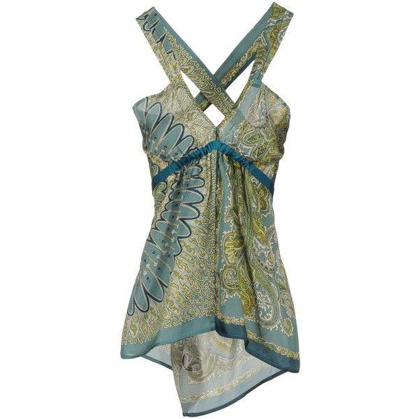 COAST,WEBER & AHAUS Top ($39) ❤ liked on Polyvore featuring tops, tanks, shirts, tank tops, blouses, deep jade, sleeveless shirts, green tank, green top and sleeveless tank