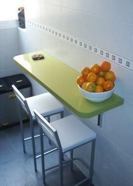 Colores para Decorar: Ideas: Mesas abatibles para cocinas pequeñas