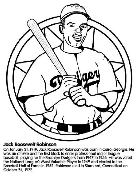 Jackie Robinson - Baseball Player coloring page