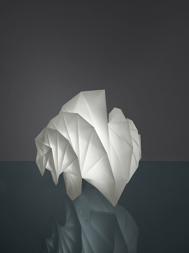Issey Miyake/Artemide origgami light.  Made out of receycled plastic bottles.  It's also collapsable!