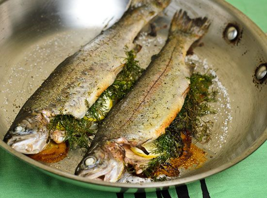 Whole Roasted Trout - a super easy fish recipe to make at home.