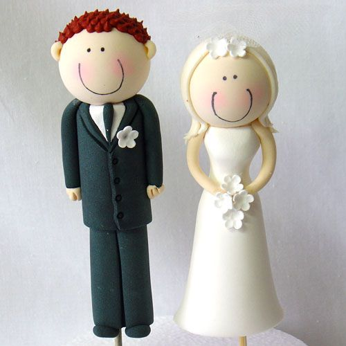 how to make a bride and groom cake topper