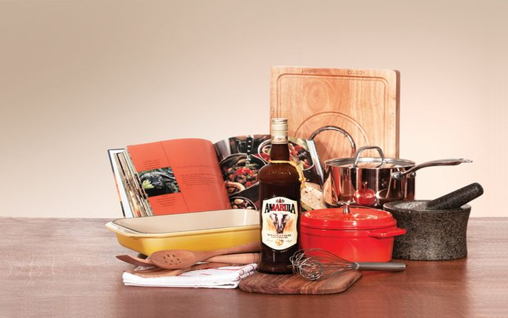 Decadent Chef Hamper - Perfect for the food enthusiast – create a deliciously attractive Decadent Chef Hamper with an assortment of cooking utensils perfect for the aspiring chef. Add anything from cookbooks with traditional African recipes to original ingredients that will captivate any food lover. To view more gifting inspirations go to www.amarula.com/gifts