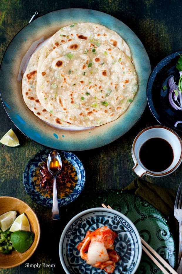 ... Green Onion Pancake, one of my most loved yummy. This recipe is from