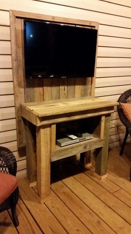 Pallet Outdoor Tv Stand Pallet Tv Tv Stand Plans