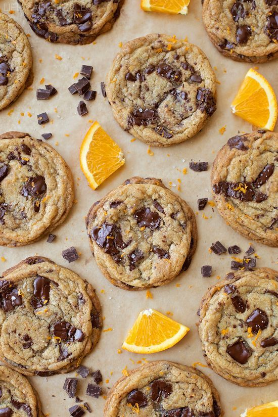 Freshly grated orange peel adds an extra hint of holiday flavor to these irresistible orange dark chocolate chunk cookies.