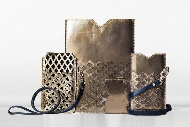 Margo metallic leather accessories for #ipadmini #iphone5 #leather #shiny #margo #accessories www.bymargo.net