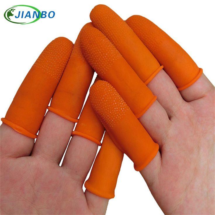 Pure natural latex powder-free finger cot Anti static finger cots Non-slip cots color Orange ESD work Gloves