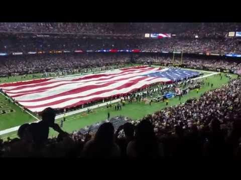 11 Sept 2016 National Anthem 50th Year Saints Game - YouTube