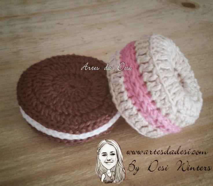 Artes da Desi: Biscoito Rosquinha de Crochê