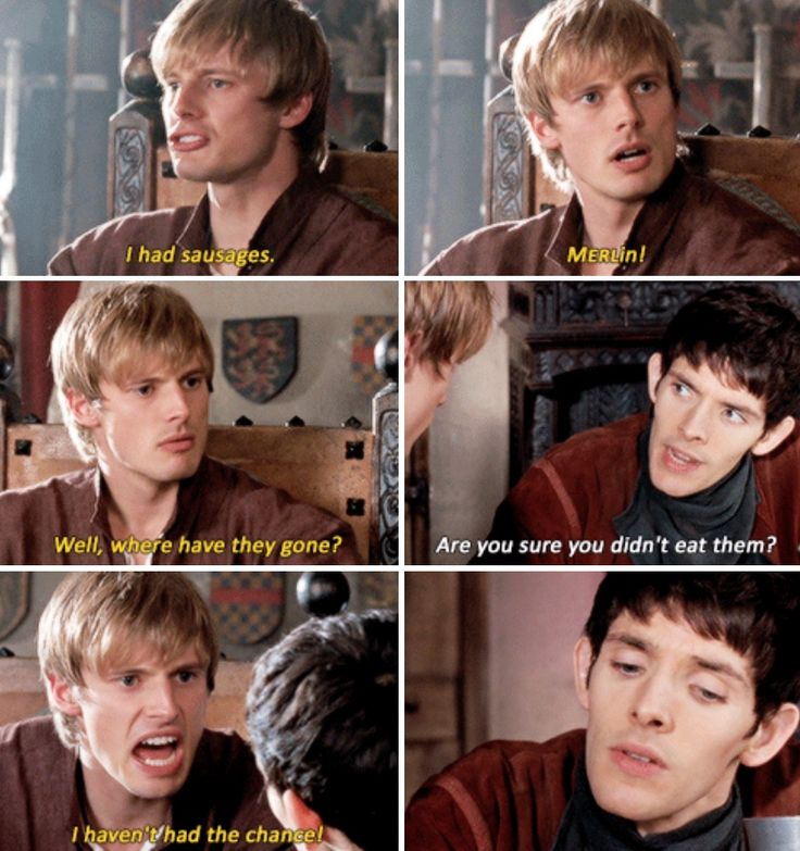 Hahaha | Merlin trying to keep the prince fit and ship-shape :P - Visit to grab an amazing super hero shirt now on sale!