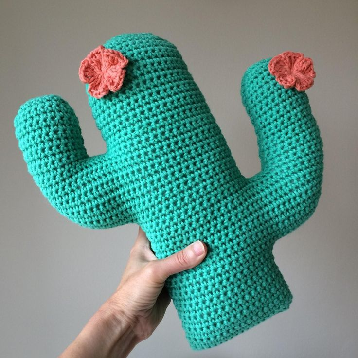 This is a pdf pattern to make a fun crochet cactus cushion with flower detail…