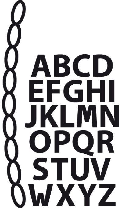 Cr1281 Craftable Mini alphabet & garland
