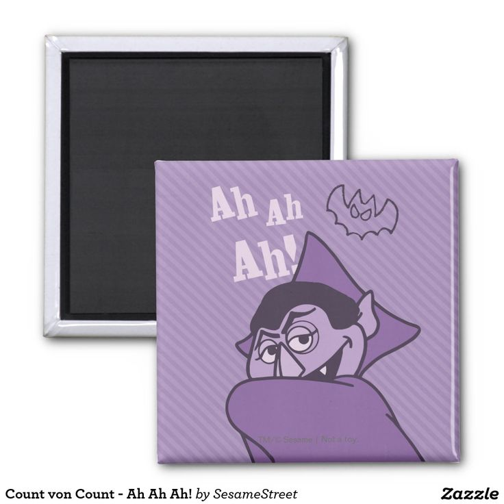 Count von Count - Ah Ah Ah! Regalos, Gifts. #imanes #magnets