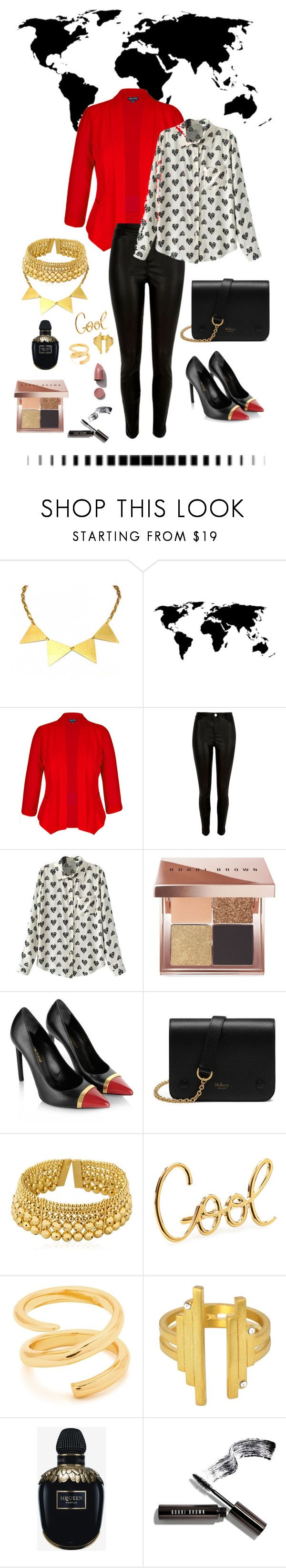 """World wide"" by little-me1 ❤ liked on Polyvore featuring Zara Taylor, City Chic, River Island, Bobbi Brown Cosmetics, Yves Saint Laurent, Mulberry, Paula Mendoza, Lanvin, Gorjana and CHARLOTTE VALKENIERS"