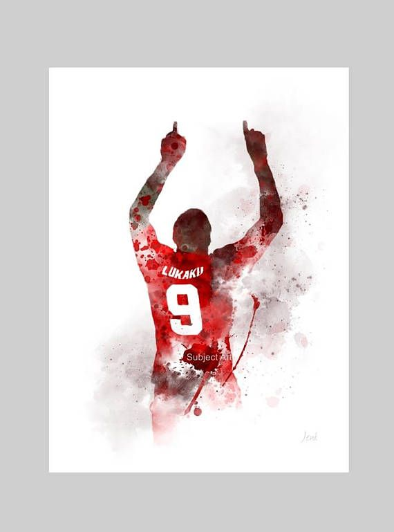 Romelu Lukaku ART PRINT illustration Manchester United