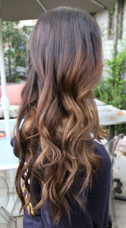 Brunette with subtle sun kissed highlights. This one would be able to grow out a bit, I think, between getting it done.