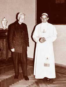 Pablo VI y Jacques Maritain
