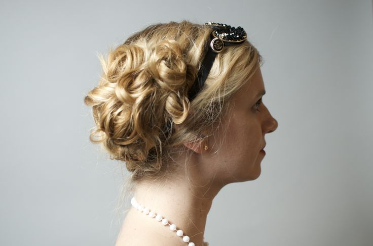 Breanna, Prohibition Party.  #hair #updo #prohibition #greatgatsby #weddinghair #weddingstyle #longhairupdo