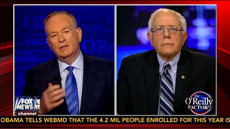 Sen. Bernie Sanders on The O'Reilly Factor O'Reilly Factor seems to be Clue - Sanders 4 President 2016