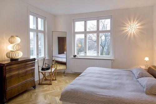Phòng ngủ có đèn chiếu
