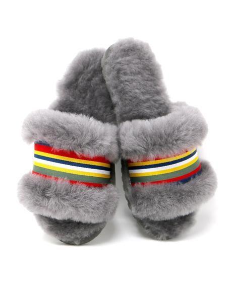 4193ff05093 EMU Wrenlette Slide Slipper in Charcoal Sheepskin