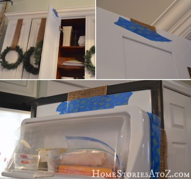 As long as you keep this blue stuff on the back of the door (read: far out of view) it's super useful when hanging Christmas decorations. Why? It's strong, but won't peel off paint or leave residue when it's time to take everything down. See more at Home Stories A to Z »   - HouseBeautiful.com