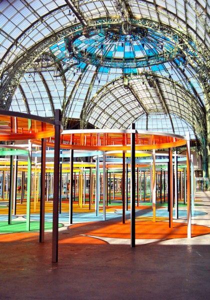Monumenta 2012 Daniel Buren (Paris - installation)  https://www.artexperiencenyc.com/social_login/?utm_source=pinterest_medium=pins_content=pinterest_pins_campaign=pinterest_initial