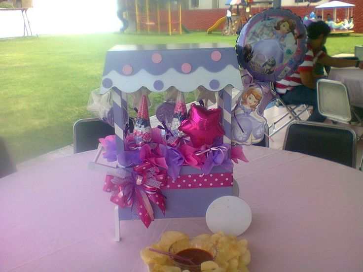 1000 images about princesa sof a on pinterest sofia the - Decoracion de centros de mesa ...