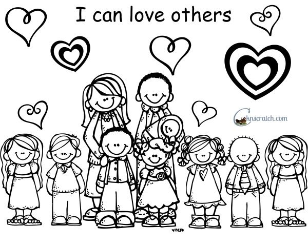 Said Love One Another Coloring Page | Coloring Pages