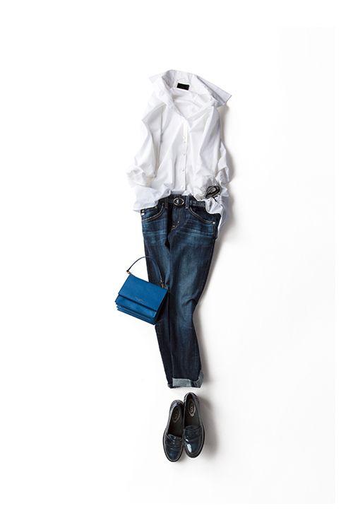 白シャツ×デニム、永遠に好きな組み合わせ