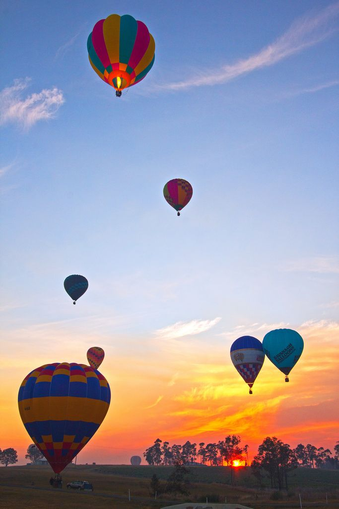 Take a Balloon ride over the picturesque Hunter Valley in New South Wales