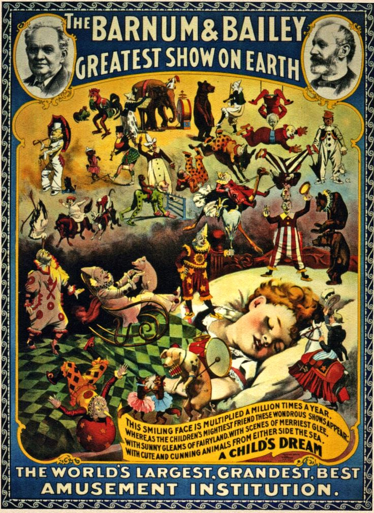 Vintage advertising poster | vintage posters | circus | circa 1930's