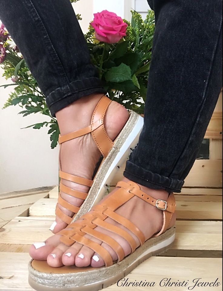 Brown Leather Sandals, Greek Gladiator Sandals, Antislippery Sandals, Sandali Di Cuoio, Women's Shoes, Handmade in Greece.