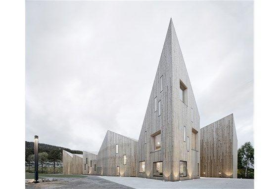 Romsdalsmuseet, muesum, in Molde. Architect: Reiulf Ramstad Arkitekter AS.