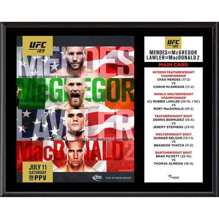 Fanatics Authentic UFC 189 Chad Mendes vs Conor McGregor 12'' x 15'' Sublimated Plaque