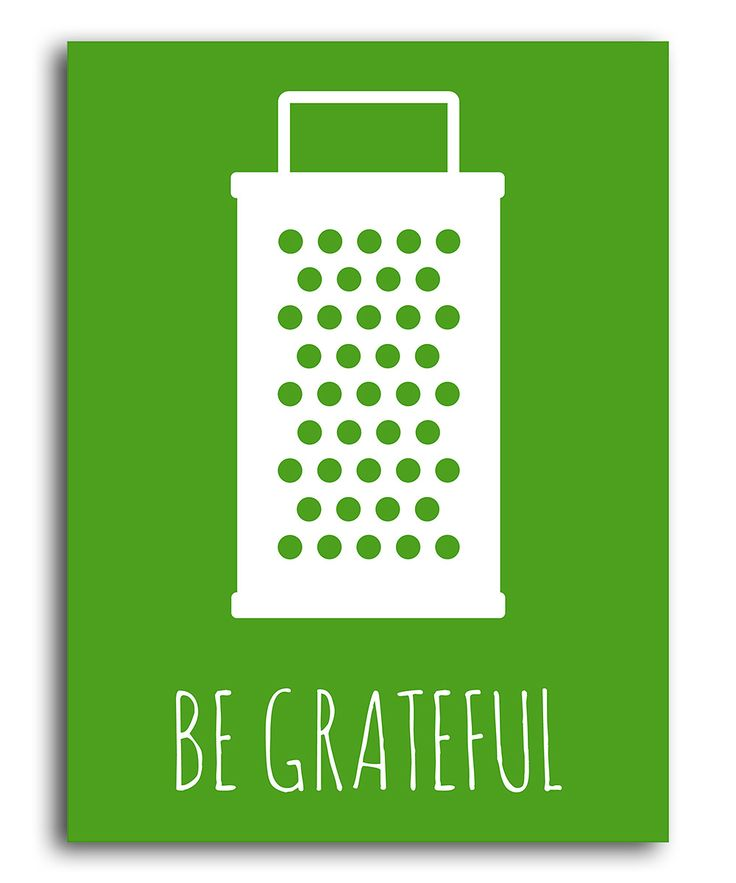 Green 'Be Grateful' Print