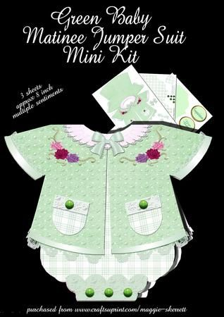 Green Baby Matinee Jumper Suit on Craftsuprint - Add To Basket!