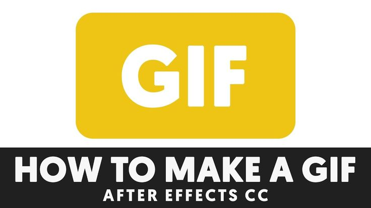 T032 How to make a GIF in After Effects Tutorial